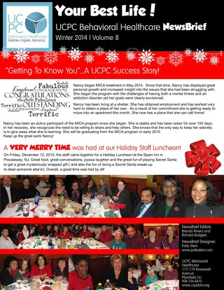 UCPC Behavioral Health Center Winter 2014 Newsletter