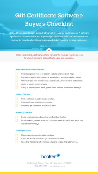 Buyer's Checklist: Gift Certificate Software