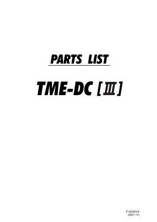 TMEDCIII PARTS 2001.11