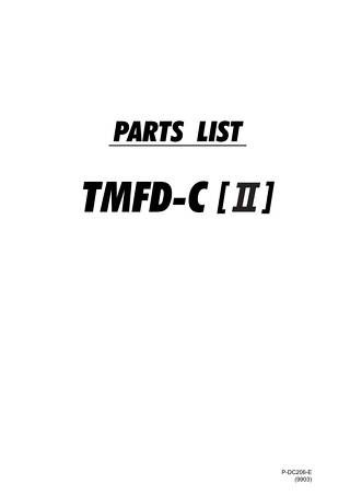 TMFDCII PARTS 9903