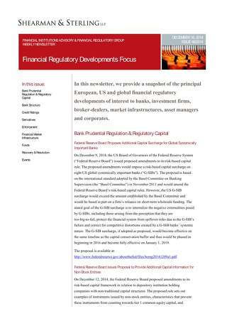 Financial Regulatory Developments Focus FIA 121614