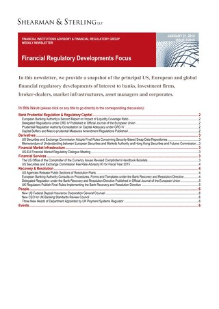 Financial Regulatory Developments Focus FIAFR 012115