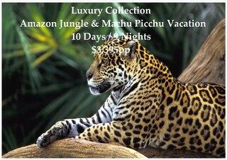 Luxury Collection Amazon Jungle & Machu Picchu | 10 Days | $3,395pp
