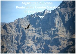 Signature Collection Route of the Condor Vacation | 10 Days | $5,995pp