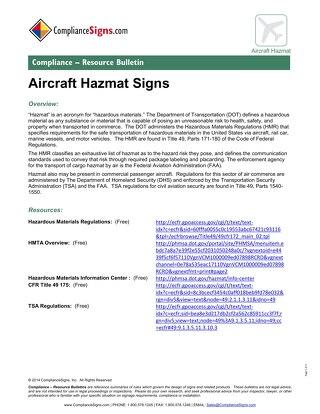 Aircraft-Hazmat