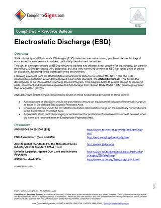 ESD - Electrostatic Discharge