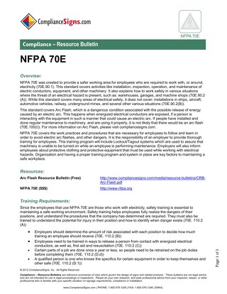NFPA 70E Electrical Safety