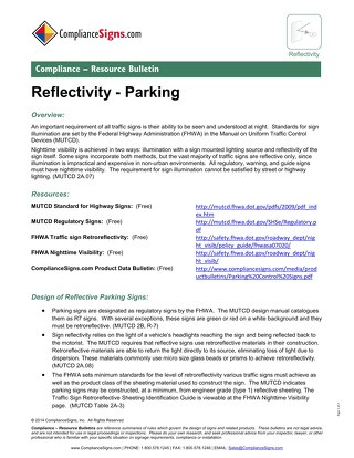Parking Sign Reflectivity