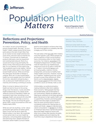 Pop Health Matters_Winter2015_Vol.28_Issue 1