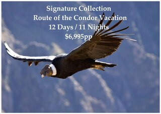 Signature Collection Route of the Condor Vacation | 12 Days | $6,995pp