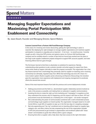 Spend Matters: Supplier Expectations and Onboarding Tips