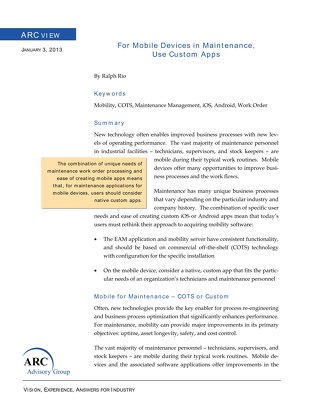 ARC Advisory White Paper