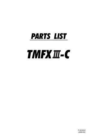 TMFXIIIC PARTS 2000.02