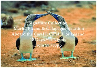 Coral / Legend Galapagos Cruise & Machu Picchu   Signature Collection   12 Days   From $9,750pp