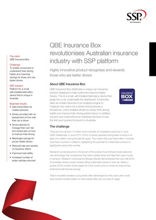 QBE Insurance Box revolutionises Australian insurance industry with SSP platform