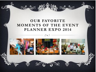 Our Favorite Moments of The Event Planner Expo 2014