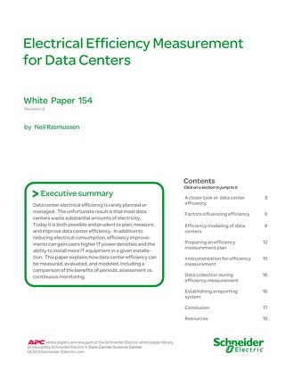 WP 154 - Electrical Efficiency Measurement for Data Centers