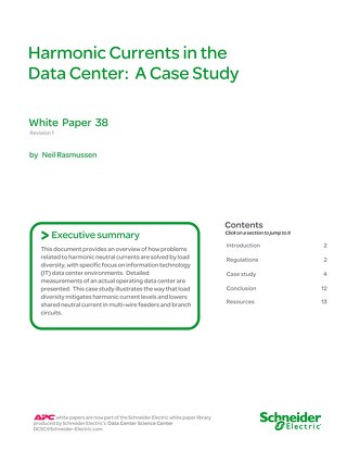 WP 38 - Harmonic Currents in the Data Center: A Case Study