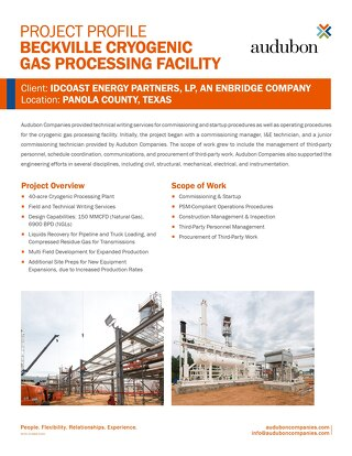 Beckville Cryogenic Gas Processing Facility