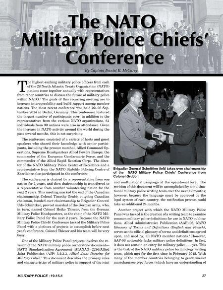 Military Police Spring 2015