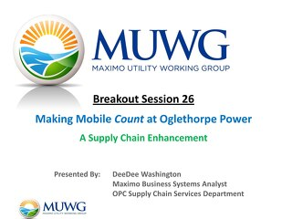 2014 Fall MUWG - Making Mobile Count