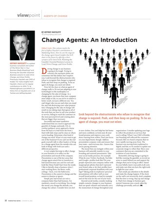 Marketing News Agents of Change