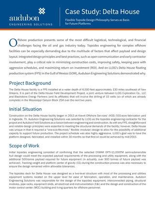Case Study: Delta House Project - Audubon Engineering Solutions