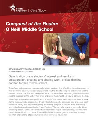2015 Follett Challenge Middle School Category Semifinalist: O'Neill Middle School Case Study