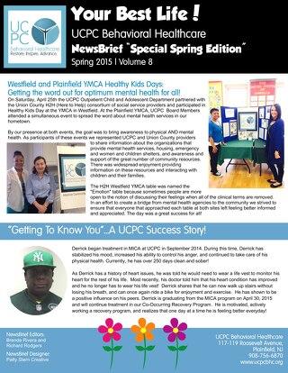 UCPC BHC Spring 2015 Newsletter