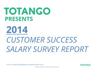 2014 Customer Success Salary Report