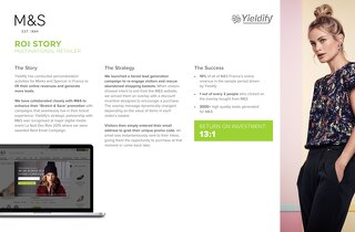 Yieldify case study - Marks and Spencer