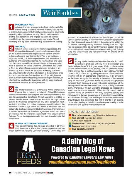 Canadian Lawyer Inhouse Febmar 2012