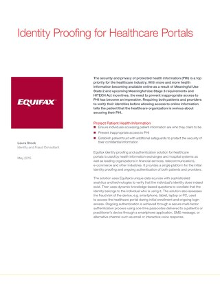 Identity Proofing for Healthcare Portals