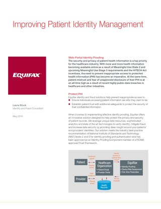 Improving Patient Identity Management