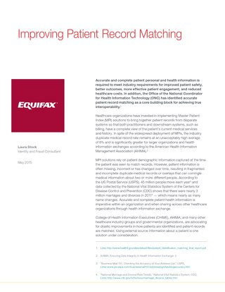 Improving Patient Record Matching