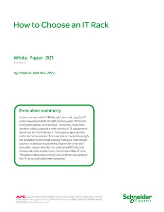 WP 201 - How to Choose an IT Rack