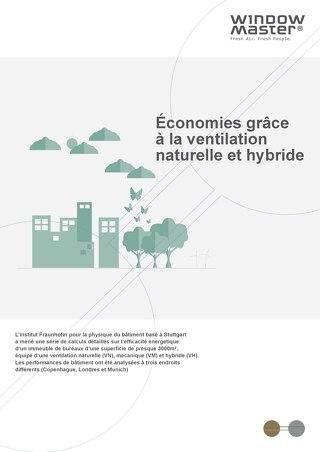 Économies grâce à la ventilation naturelle et hybride