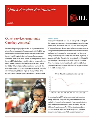 Quick Service Restaurants Article