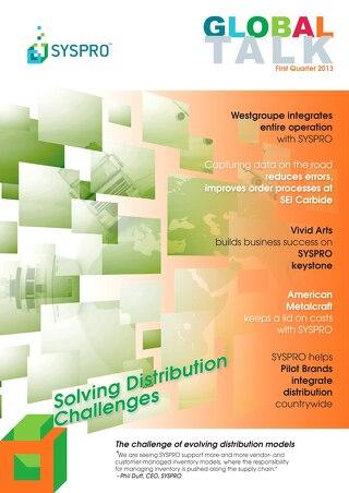 SYSPRO Global Talk Newsletter: The Challenge of Evolving Distribution Models