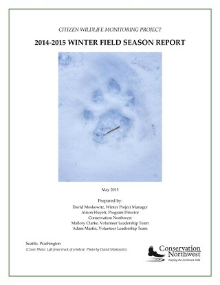 2014-2015 CWMP WINTER FIELD SEASON REPORT