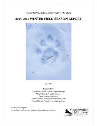 2014-2015 CWMP WINTER FIELD SEASON REPORT