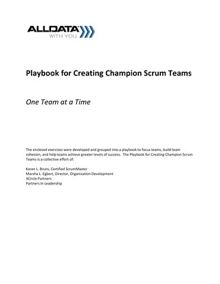 Champion Scrum Teams