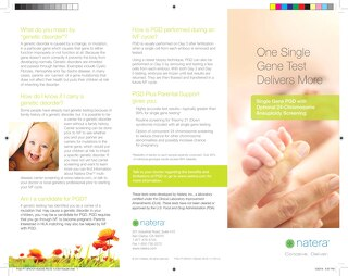 Single Gene Patient Brochure