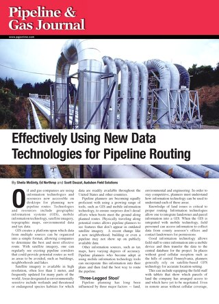 Effectively Using New Data Technologies for Pipeline Routing