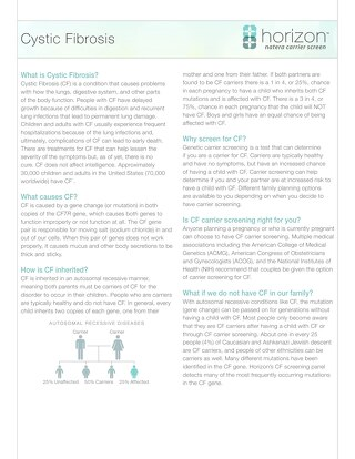 Cystic Fibrosis Fact Sheet