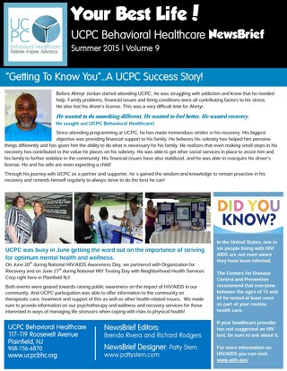 UCPC Summer 2015 NewsBrief