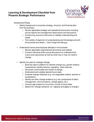 Learning & Development Checklist