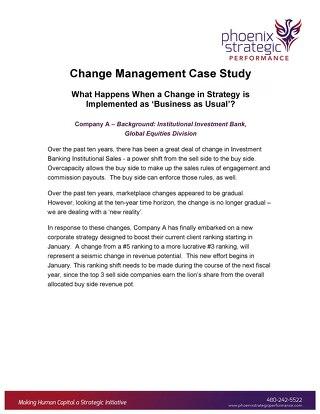 Change Management Case Study
