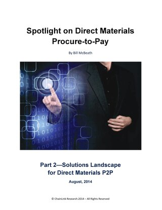 Spotlight on Direct Materials Procure-to-Pay
