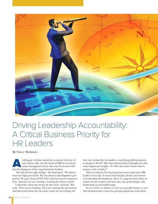 Driving Leadership Accountability: A Critical Business Priority for HR Leaders